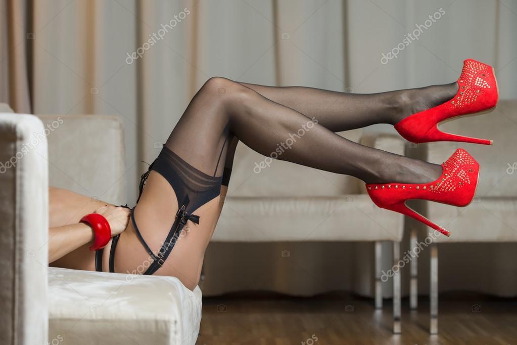 Medias y zapatos con tacon-9639